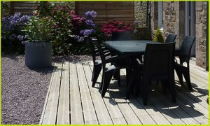 Aménagement extérieur : terrasse bois